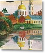 Evening Gong Of The Russian Church Metal Print