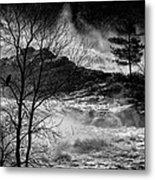 Evening Great Falls Maine Metal Print