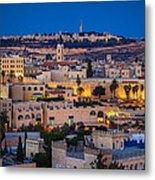 Evening In Jerusalem Metal Print