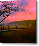 Evening In The Smokies Metal Print