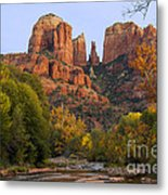 Evening Light On Cathedral Rock Metal Print