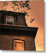 Evening Light On Old House Metal Print