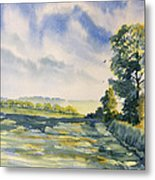 Evening Light On The Woldsway Metal Print