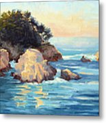 Evening Light Point Lobos Metal Print
