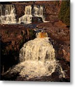 Evening Light Waterfalls Metal Print