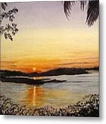 Evening Marsh Metal Print