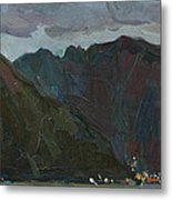 Evening Mountains In The Gulf Metal Print