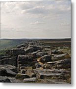 Evening On Stanage Edge Metal Print