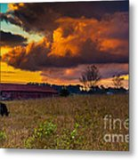Evening On The Farm Five Metal Print
