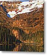 Evening On The Great Divide Painted Metal Print