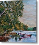 Evening On The Lake Metal Print