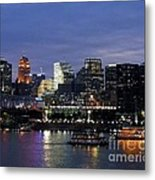 Evening On The River Metal Print
