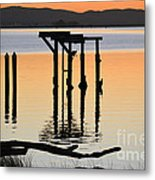 Evening On The Sacramento River Metal Print
