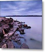Evening On Tuttle Creek Lake In Kansas Metal Print