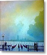 Evening Romance - Venice Metal Print