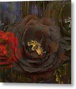 Evening Roses Metal Print