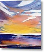 Evening Seascape Metal Print by Lou Gibbs