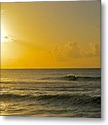 Evening Surf Metal Print