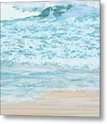 Evening Surf Metal Print