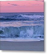 Evening Waves - Jersey Shore Metal Print