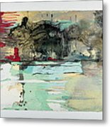 The Storm Behind The Calm Metal Print by Marie Tosto