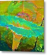 Ever Turquoise Metal Print by Shirley Sirois