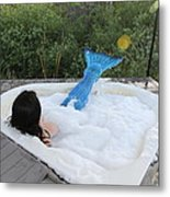 Everglades City Florida Mermaid 017 Metal Print