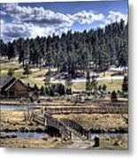 Evergreen Colorado Lakehouse Metal Print