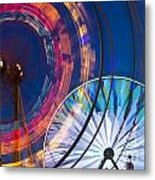 Evergreen State Fair Ferris Wheel Metal Print