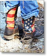 Every Day American Fishing Boots Metal Print