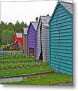 Every Garden Needs A Shed And Lawn Two In Les Jardins De Metis/reford Gardens Near Grand Metis-qc Metal Print