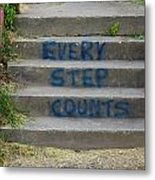 Every Step Counts Metal Print