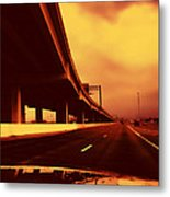 Everybody's Out Of Town - Sundown Metal Print by Wendy J St Christopher