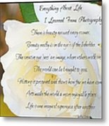 Everything About Life From Photogaphy Metal Print
