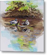 Everythings Just Ducky Metal Print by Suzanne Schaefer