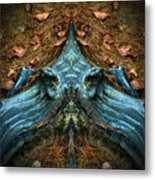 Evil Autumn Tree Roots Metal Print