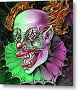 Evil Clown By Spano Metal Print