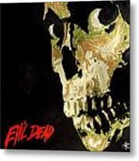 Evil Dead Skull Metal Print