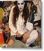 Evil Schoolgirl 105 Metal Print