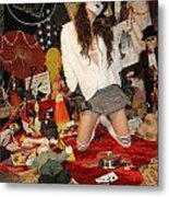 Evil Schoolgirl 207 Metal Print
