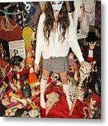 Evil Schoolgirl 274 Metal Print