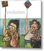 Evolution The Poster Metal Print