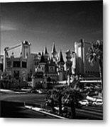 excalibur hotel and casino on the Las Vegas boulevard strip Nevada USA Metal Print