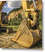 Excavator At Big Rock Quarry - Emerald Park - Arkansas Metal Print