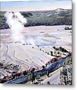 Excelsior Geyser, Yellowstone Np, 20th Metal Print
