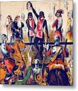 Execution Of Charles I, 1649 Metal Print