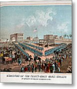 Execution Of The Thirty Eight Sioux Indians Metal Print