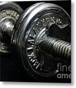 Exercise  Vintage Chrome Weights Metal Print