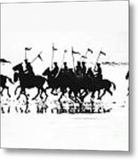 Exhibition Platoon Of The 11th U.s. Cavalry On Del Monte Beach Monterey California 1935 Metal Print
