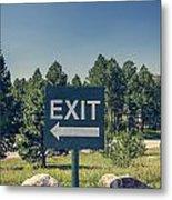 Exit Sign Metal Print